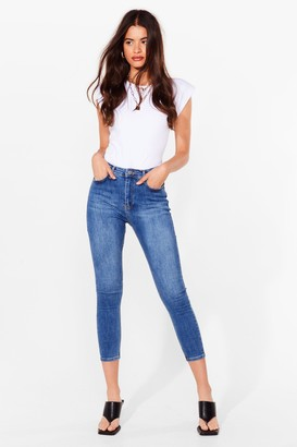 Nasty Gal Womens Washing Out High-Waisted Skinny Jeans - Blue - 6