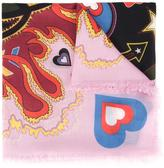 Mary Katrantzou 'Heart Flames' scarf