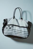 MOMO Design Embroidered Denim Tote Bag