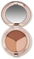 Jane Iredale PurePressed Eye Shadow Triple - Triple Cognac - shimmery light peach almond brown and deep matt