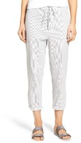 James Perse Women's Crop Seersucker Pants