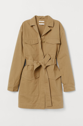 H&M Pima Cotton Utility Jacket - Green