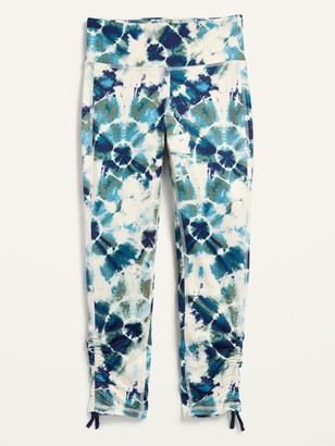 Old Navy Mid-Rise Elevate Go-Dry 7/8-Length Cinched-Hem Leggings for Girls