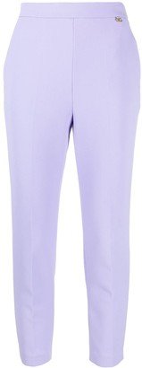 Elisabetta Franchi High-Rise Skinny Cropped Trousers