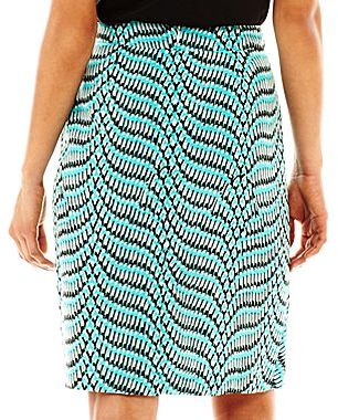 JCPenney 9 & Co.® Crepe Sarong-Wrap Print Skirt