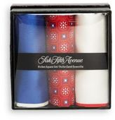 Saks Fifth Avenue Silk Pocket Squares- Pack of 3