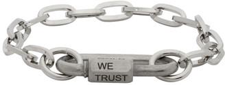 IN GOLD WE TRUST PARIS Silver Steel Link Bracelet
