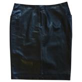 Christian Dior Leather mid-length skirt