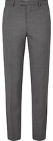 John Lewis Textured Super 100s Wool Travel Suit Trousers, Light Grey