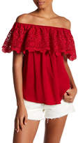 Willow & Clay Lace Off-the-Shoulder Shirt