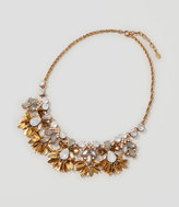 LOFT Crystal Leaf Necklace