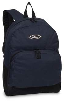 Everest Classic Backpack w/ Front Organizer, Navy