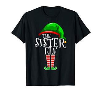 Sister Elf Family Matching Group Christmas Gift Funny Women T-Shirt