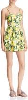 Show Me Your Mumu Piper Lemon Floral Print Cutout Dress