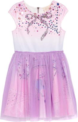 Hannah Banana Embellished Fit & Flare Dress