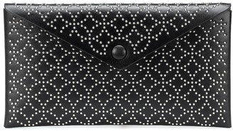 Alaia Louise embellished leather clutch