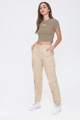 Forever 21 Cotton Cargo Joggers