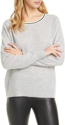 Alice + Olivia Moira Side Stripe Cashmere Blend Sweater