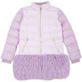 Juicy Couture Girls Jacquard Mix Puffer Coat