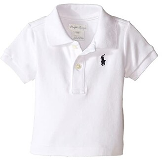 Polo Ralph Lauren Interlock Knit Polo Shirt (Infant) (White) Boy's Short Sleeve Knit