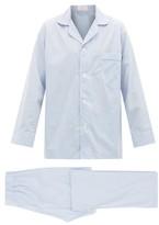 Emma Willis - Piped Cotton Pyjamas - Mens - Blue