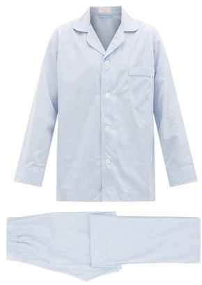 Emma Willis Piped Cotton Pyjamas - Mens - Blue