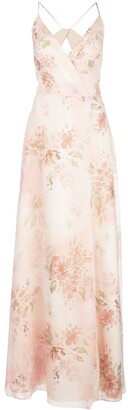 Marchesa Bridesmaids floral gown