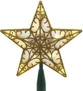 Kurt Adler 10 Lights LED Double 3-D Gold Star Treetop