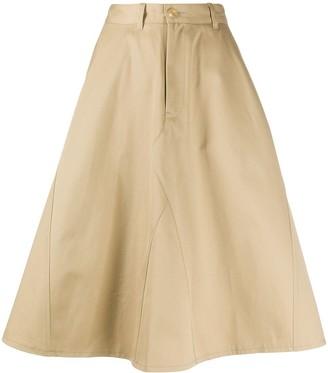Junya Watanabe high waisted A-line skirt