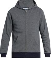 Blue Blue Japan Zip-through cotton sweatshirt