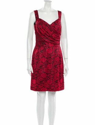 Dolce & Gabbana Floral Print Mini Dress Red