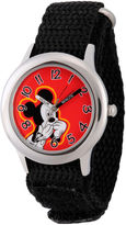 Disney Mickey Mouse Boys Black Strap Watch-Wds000155