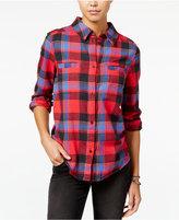 Roxy Juniors' Campay Plaid Zip-Back Shirt