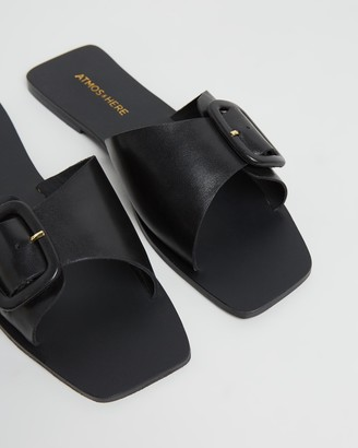 Atmos & Here Sia Leather Slides
