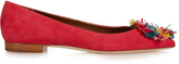 Malone Souliers Billie embellished point-toe suede flats