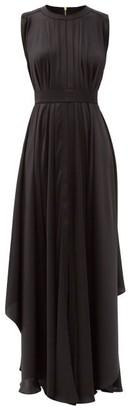 Maison Rabih Kayrouz Asymmetric-hem Satin Gown - Black
