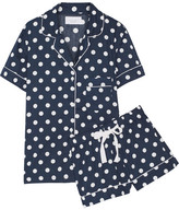 Three J NYC Eloise Polka-dot Cotton-poplin Pajama Set - Navy