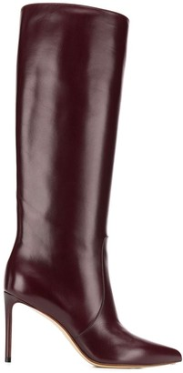Francesco Russo pointed knee length boots
