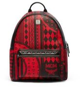 MCM Stark Coated Canvas Backpack