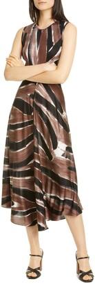 Rachel Comey Cascade Sleeveless Silk Midi Dress
