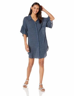 Seafolly Women's Cotton Gauze Ruffled Sleeve Swimsuit Cover Up