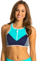Nautica H2O Active Off the Blocks Zip Front Sport Bra 8128360