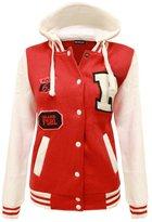 Noroze Girls Boys Kids Unisex Baseball R Hoodie Jacket