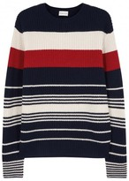 Moncler Striped Wool And Cashmere Blend Jumper
