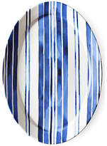Ralph Lauren Home Cote D'Azur Stripe Oval Serving Platter - Navy