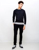 Edwin Panel Crew Sweatshirt Black/Grey