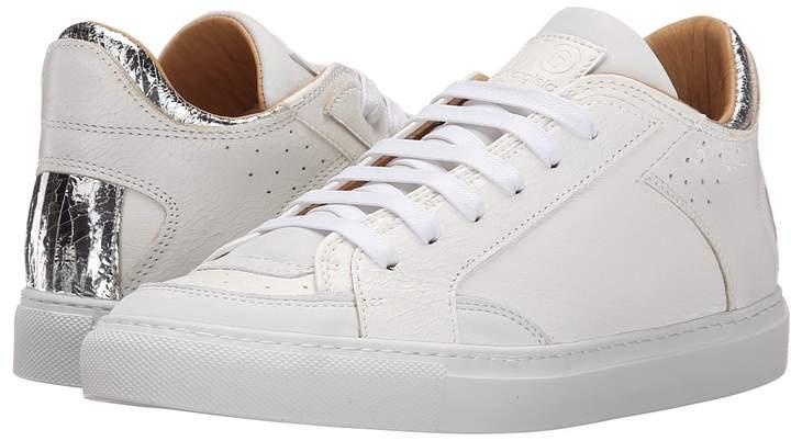 MM6 MAISON MARGIELA Metallic Crackle Low Top Sneaker Women's Lace up casual Shoes