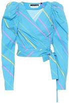 Rotate by Birger Christensen Bridget striped cotton top