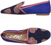 Coral Blue Loafers