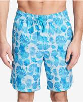 "Calvin Klein Men's Palm-Print 7"" Swim Trunks"